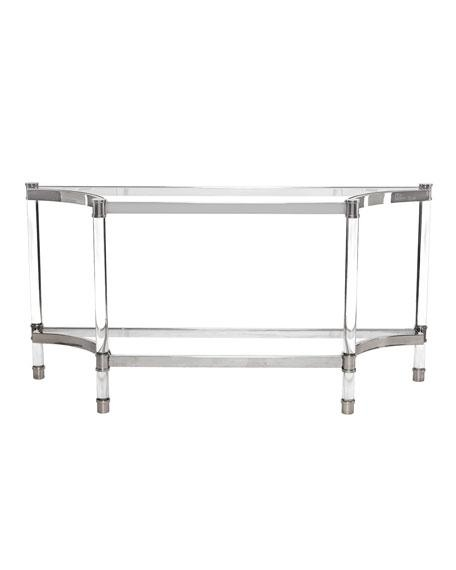 Bernhardt Salon Stainless Steel Console Table Inside Bernhardt Console Tables (Image 11 of 20)