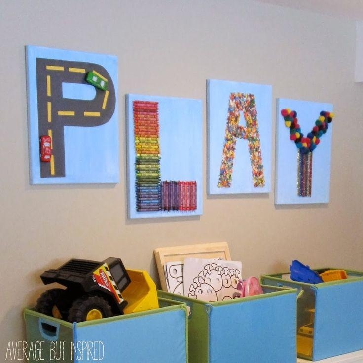 Best 10+ Playroom Wall Decor Ideas On Pinterest | Playroom Decor Within Playroom Wall Art (Image 2 of 20)