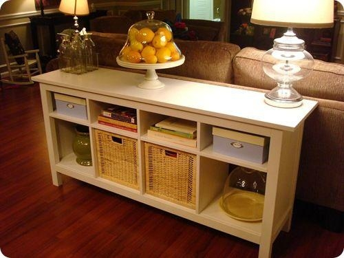 Best 10+ Sofa Table With Storage Ideas On Pinterest | Small Couch For Sofa Tables With Storages (View 6 of 20)