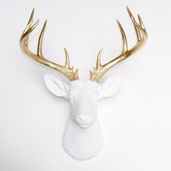 Best 10+ White Deer Heads Ideas On Pinterest | Faux Deer Head With Regard To Stag Head Wall Art (Image 5 of 20)