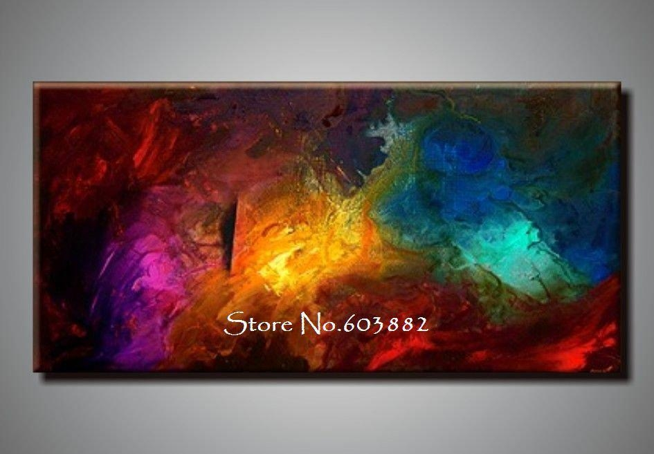 Best 100% Handpainted Large Canvas Wall Art High Quality Home For Large Unique Wall Art (View 5 of 20)