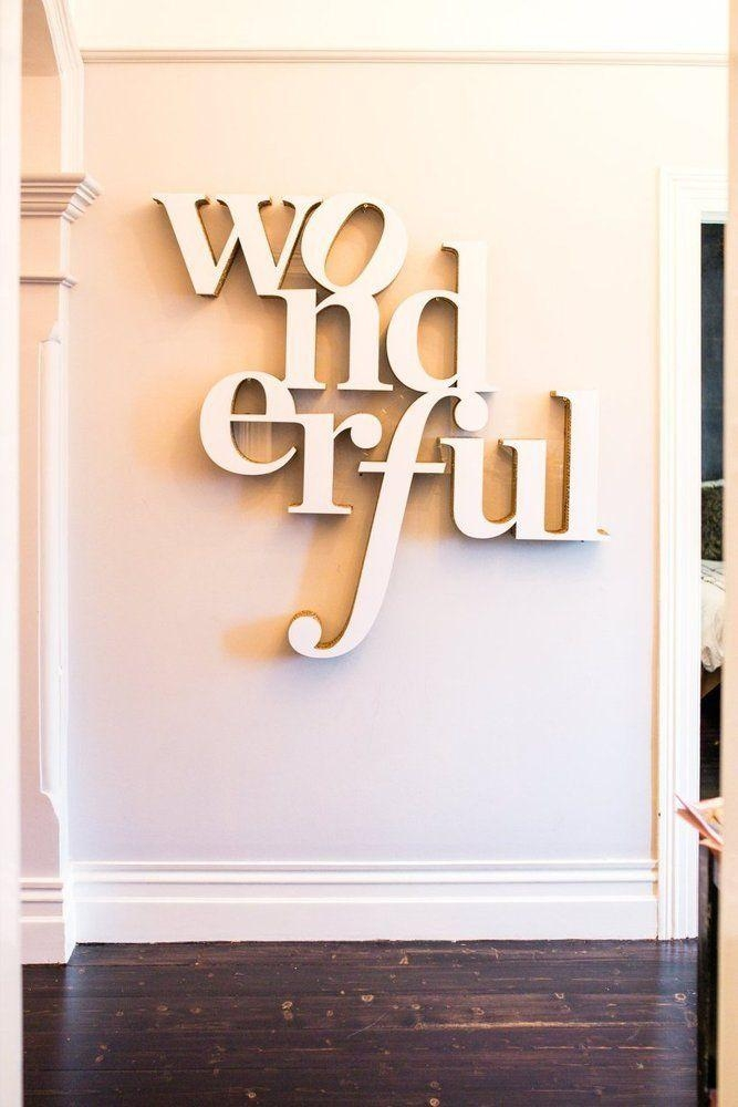 Best 20+ Big Wall Letters Ideas On Pinterest | Frames Ideas, Spare Within Wood Word Wall Art (Image 5 of 20)
