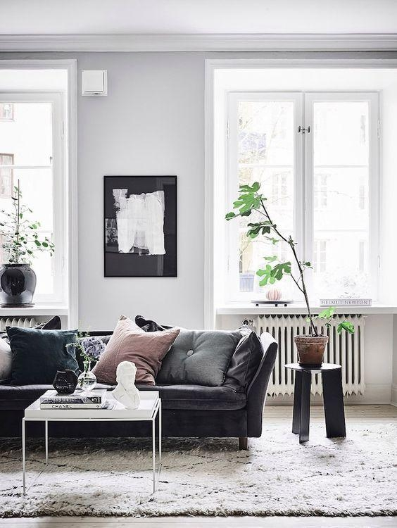 Best 20+ Black Couch Decor Ideas On Pinterest | Black Sofa, Big For Black Sofas For Living Room (Image 3 of 20)