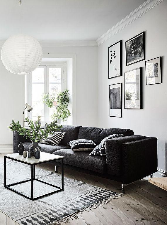 Best 20+ Black Couch Decor Ideas On Pinterest | Black Sofa, Big Pertaining To Sofas Black And White Colors (Image 5 of 20)