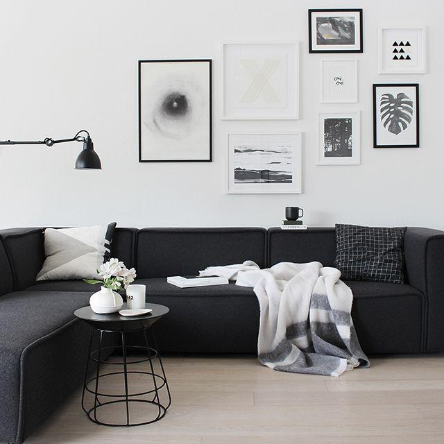 Best 20+ Black Couch Decor Ideas On Pinterest | Black Sofa, Big Pertaining To Sofas Black And White Colors (Image 4 of 20)