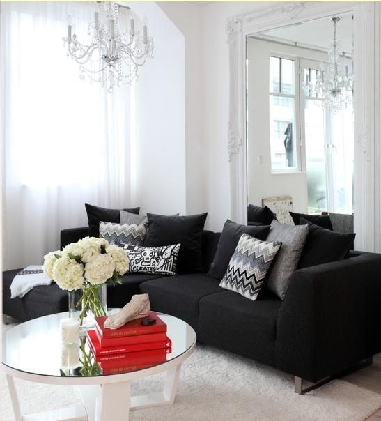 Best 20+ Black Couch Decor Ideas On Pinterest | Black Sofa, Big With Regard To Small Black Sofas (Image 1 of 20)