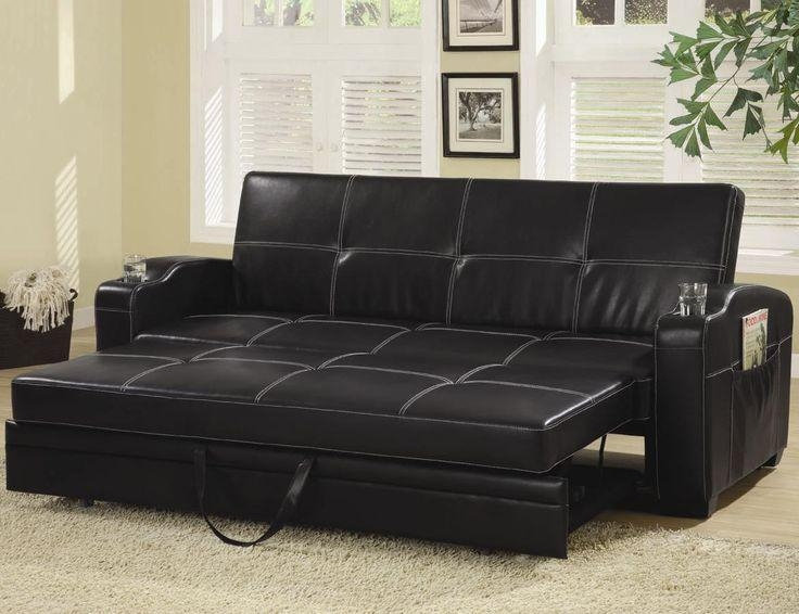 Best 20+ Black Leather Sofa Bed Ideas On Pinterest | Black Leather Inside Leather Fouton Sofas (Image 6 of 20)
