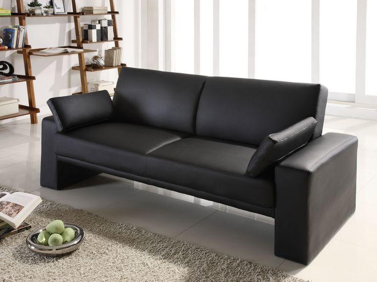 Best 20+ Black Leather Sofa Bed Ideas On Pinterest | Black Leather With Regard To Faux Leather Futon Sofas (Image 8 of 20)