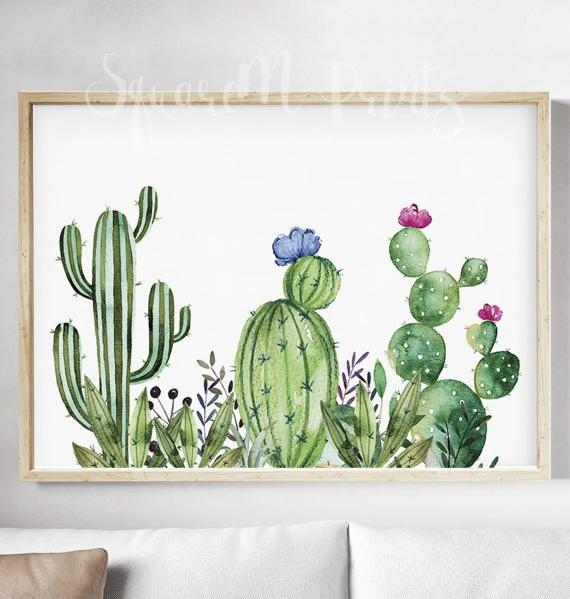 Best 20+ Cactus Art Ideas On Pinterest | Cactus Drawing, Cartoon Regarding Floral & Plant Wall Art (Image 2 of 20)