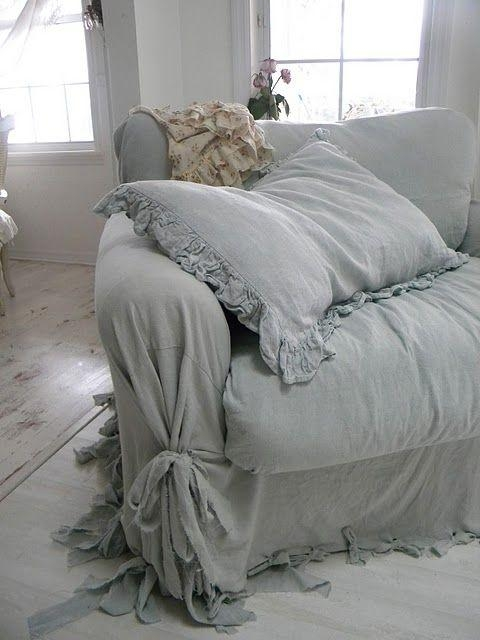 Best 20+ Couch Slip Covers Ideas On Pinterest | Slipcovers, Sofa With Regard To Shabby Chic Slipcovers (Image 7 of 20)
