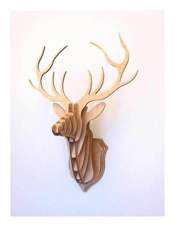 Best 20+ Deer Heads Ideas On Pinterest | Deer Head Silhouette Within Stag Head Wall Art (Image 6 of 20)