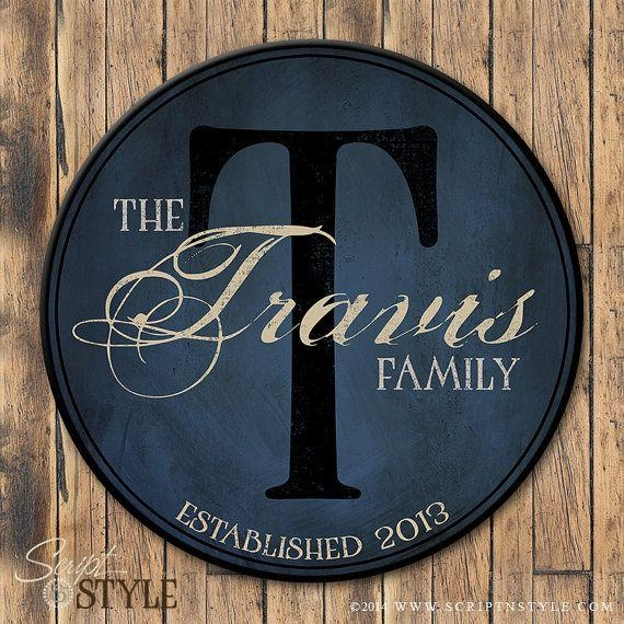 Best 20+ Family Name Art Ideas On Pinterest—No Signup Required Throughout Last Name Wall Art (Image 2 of 20)