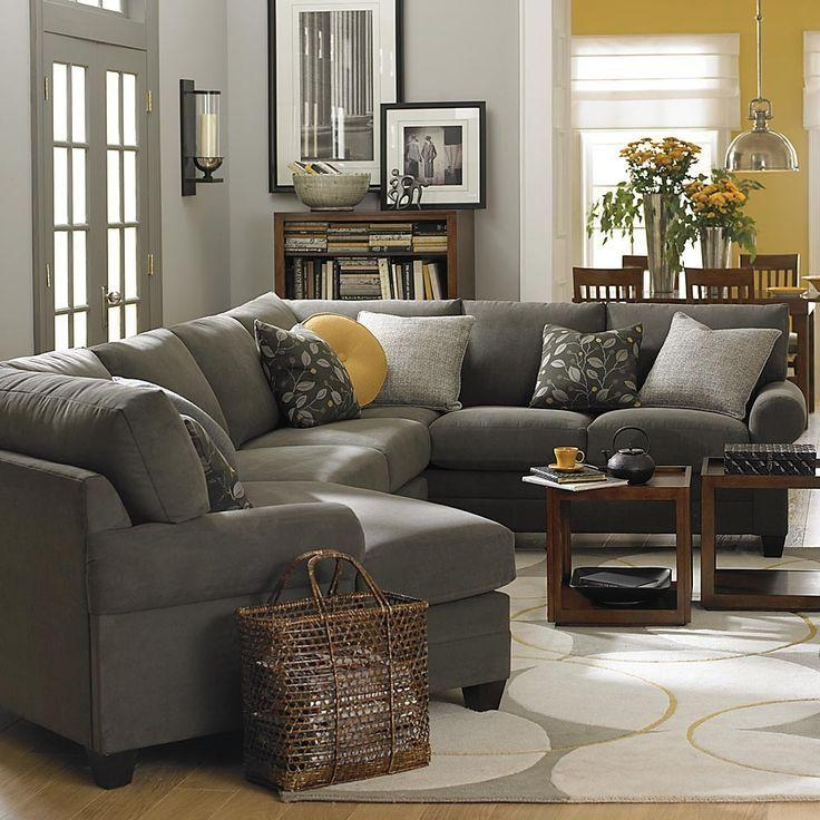 Best 20+ Gray Sectional Sofas Ideas On Pinterest | Family Room Within Charcoal Gray Sectional Sofas (Image 5 of 20)