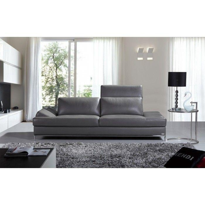 Best 20+ Grey Leather Sofa Ideas On Pinterest | Grey Leather Couch Within Charcoal Grey Leather Sofas (Image 4 of 20)