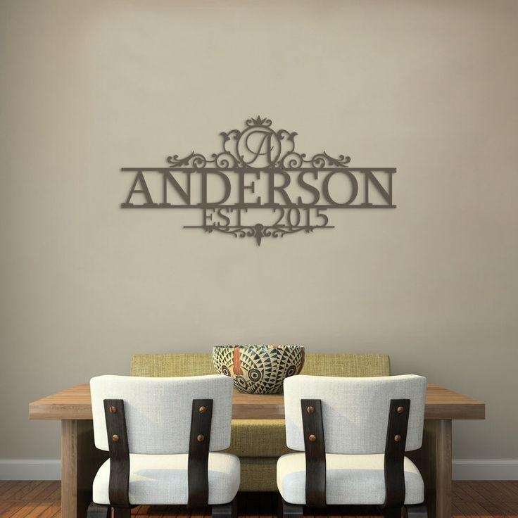 Best 20+ Last Name Decor Ideas On Pinterest | House Name Signs Pertaining To Last Name Wall Art (Image 4 of 20)