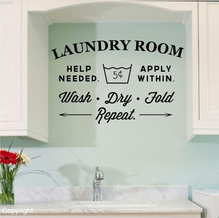 Best 20+ Laundry Room Decals Ideas On Pinterest | Laundry Quotes Pertaining To Laundry Room Wall Art (Image 3 of 20)