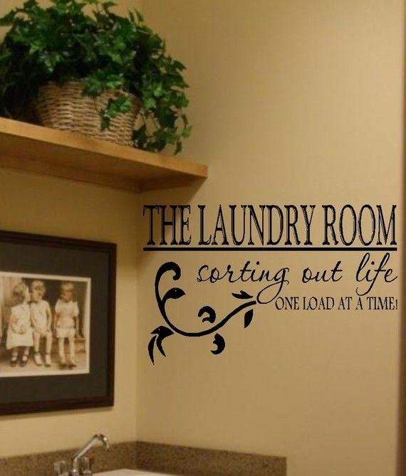 Best 20+ Laundry Room Decals Ideas On Pinterest | Laundry Quotes Within Laundry Room Wall Art Decors (View 3 of 20)