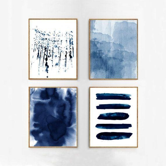 Best 20+ Modern Prints Ideas On Pinterest | Apartment Wall Art With Regard To Dark Blue Wall Art (Image 7 of 20)
