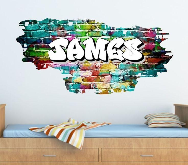 Best 20+ Name Wall Stickers Ideas On Pinterest | Wall Letter Regarding Graffiti Wall Art Stickers (Image 9 of 20)