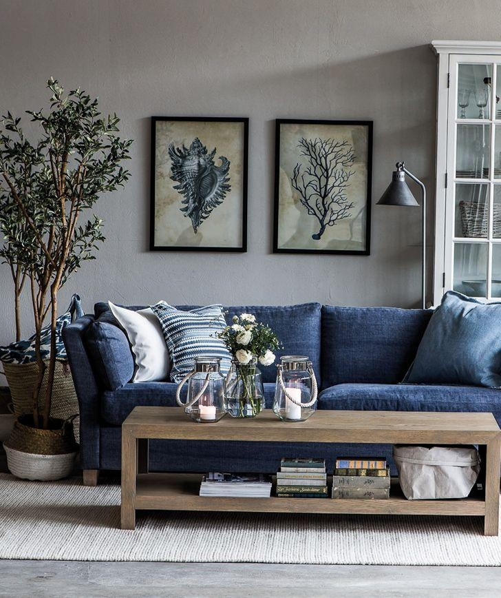 Best 20+ Navy Blue Couches Ideas On Pinterest | Blue Living Room In Blue Jean Sofas (Image 6 of 20)