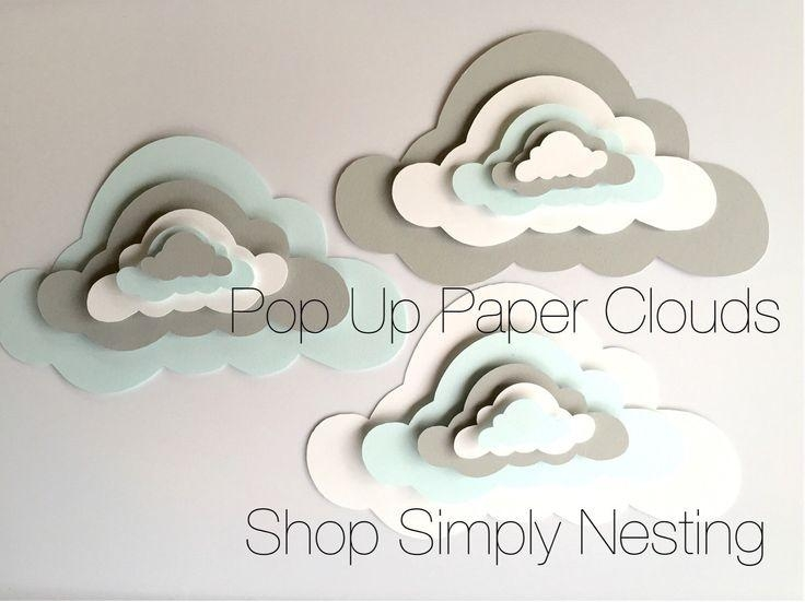 Best 20+ Paper Clouds Ideas On Pinterest | Cloud Decoration, Paper With Regard To 3D Clouds Out Of Paper Wall Art (View 8 of 20)