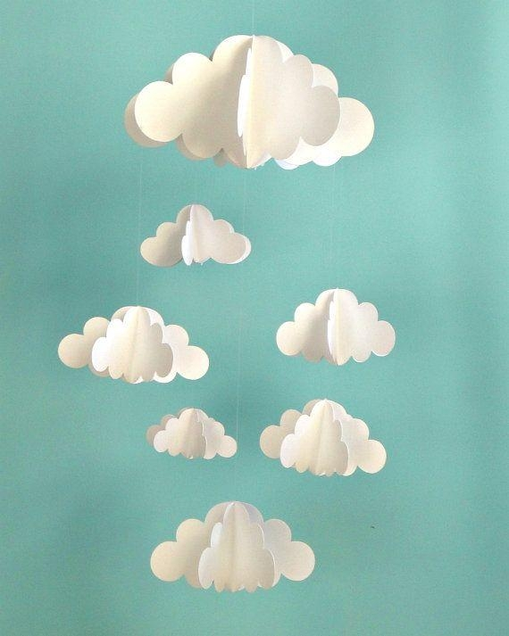 Best 20+ Paper Clouds Ideas On Pinterest | Cloud Decoration, Paper With Regard To 3D Clouds Out Of Paper Wall Art (View 5 of 20)