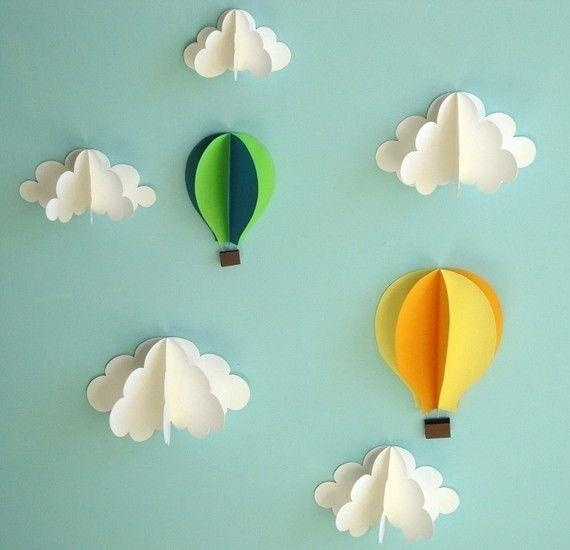 Best 20+ Paper Clouds Ideas On Pinterest | Cloud Decoration, Paper Within 3D Clouds Out Of Paper Wall Art (View 2 of 20)