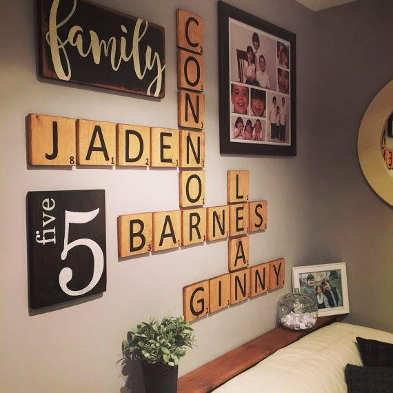 Best 20+ Scrabble Wall Art Ideas On Pinterest | Scrabble Wall Throughout Family Photo Wall Art (View 7 of 20)
