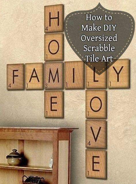 Best 20+ Scrabble Wall Art Ideas On Pinterest | Scrabble Wall With Wooden Words Wall Art (View 6 of 20)