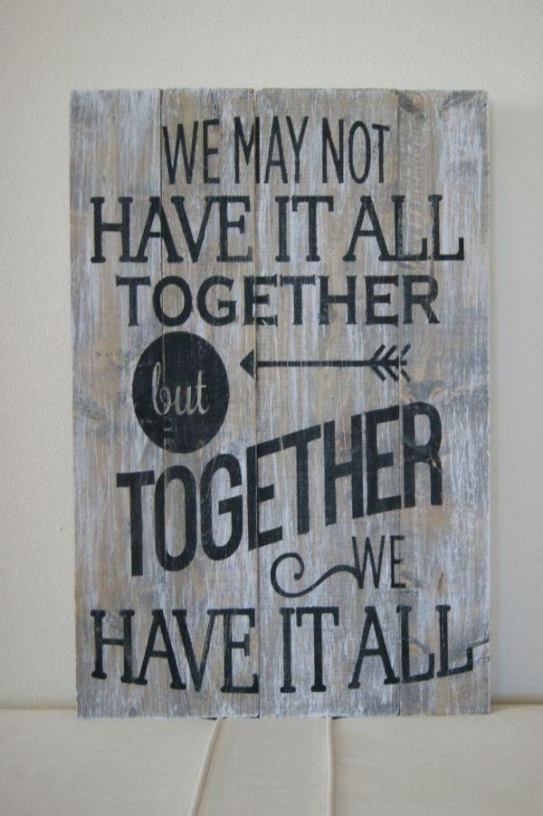 Best 20+ Wood Signs Sayings Ideas On Pinterest | Pallet Signs Inside Wood Word Wall Art (Image 7 of 20)