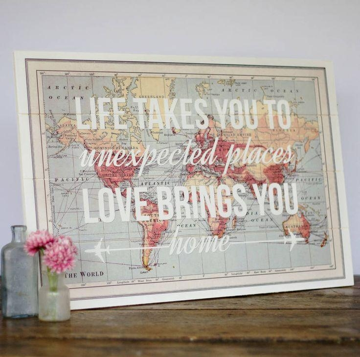Best 20+ World Map Wall Art Ideas On Pinterest | Travel For Maps For Wall Art (Image 9 of 20)