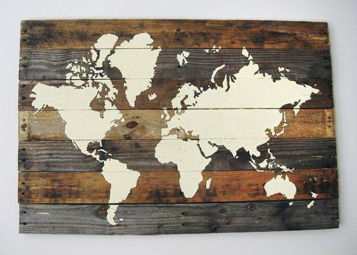Featured Image of World Map Wood Wall Art