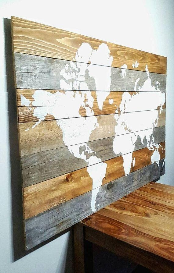 Best 20+ World Map Wall Art Ideas On Pinterest | Travel Pertaining To World Map Wood Wall Art (Image 6 of 20)