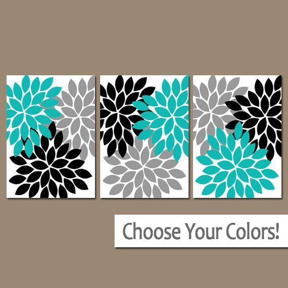 Best 25+ 3 Piece Wall Art Ideas On Pinterest | 3 Piece Art, Diy For Teal Flower Canvas Wall Art (Image 8 of 20)