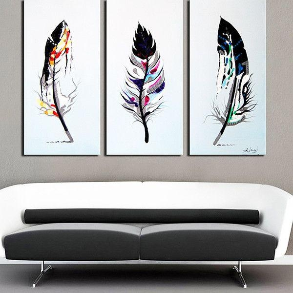 Best 25 Purple Canvas Art Ideas On Pinterest: 20 Best Collection Of Canvas Wall Art 3 Piece Sets