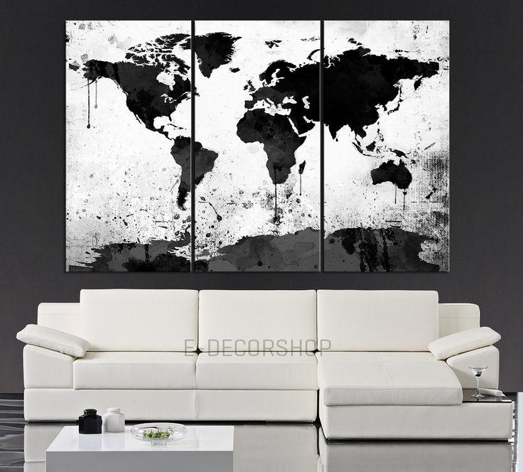 Best 25+ 3 Piece Wall Art Ideas On Pinterest | 3 Piece Art, Diy Throughout Black White And Red Wall Art (View 18 of 20)