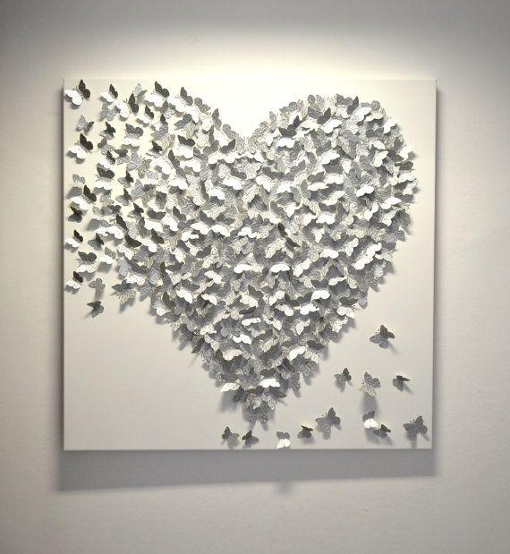 Best 25+ 3D Wall Art Ideas On Pinterest | Paper Wall Art, Paper For Butterflies 3D Wall Art (Image 9 of 20)