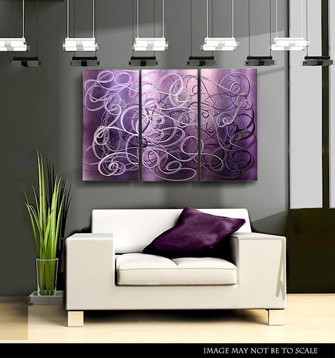 Best 25+ Abstract Metal Wall Art Ideas On Pinterest | Metal Wall Regarding Purple Abstract Wall Art (View 9 of 20)