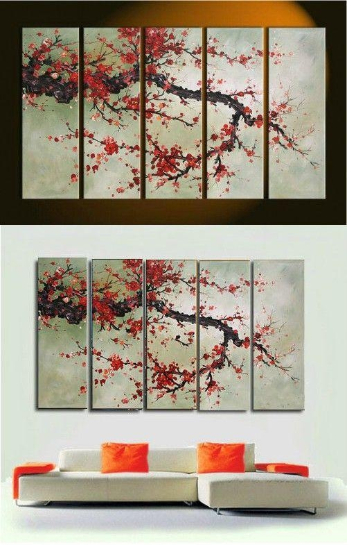 Best 25+ Abstract Wall Art Ideas On Pinterest | Abstract Canvas Inside Red Cherry Blossom Wall Art (View 17 of 20)
