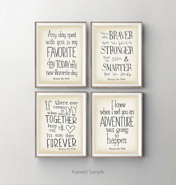 Best 25+ Baby Wall Quotes Ideas On Pinterest | New Baby Quotes With Winnie The Pooh Nursery Quotes Wall Art (Image 8 of 20)