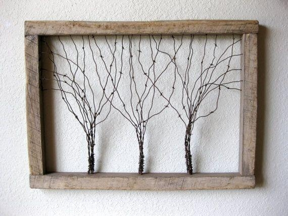 Best 25+ Barbed Wire Art Ideas On Pinterest | Barbed Wire Decor Regarding Wire Wall Art Decors (Image 6 of 20)