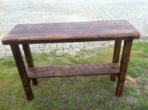 Best 25+ Barn Wood Tables Ideas On Pinterest | Wood Tables Within Barnwood Sofa Tables (Image 10 of 20)