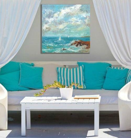 Best 25+ Beach Canvas Art Ideas On Pinterest | Beach Canvas, Sand In Coastal Wall Art Canvas (Image 7 of 20)