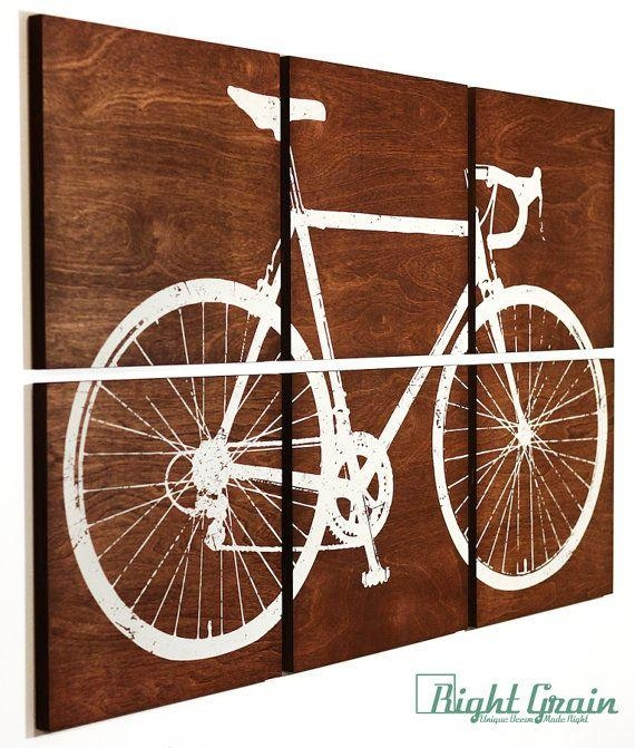 Best 25+ Bicycle Art Ideas On Pinterest | Bike Art, Diy Bike Rack With Regard To Cycling Wall Art (Image 5 of 20)