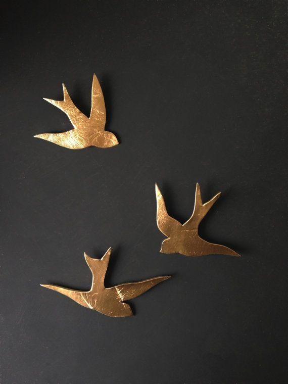 Best 25+ Bird Wall Art Ideas Only On Pinterest | Pistachio Shells Within Flying Birds Metal Wall Art (Image 5 of 20)