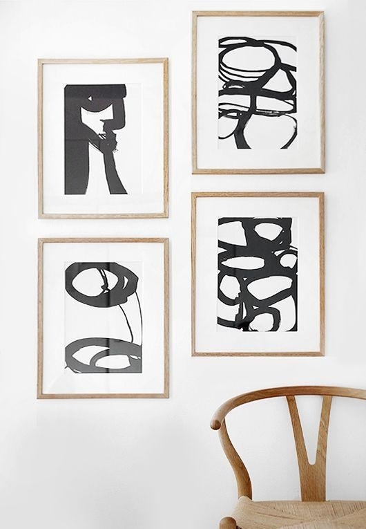Best 25+ Black And White Abstract Ideas On Pinterest | Modern Art Within Black And White Framed Wall Art (Image 5 of 20)