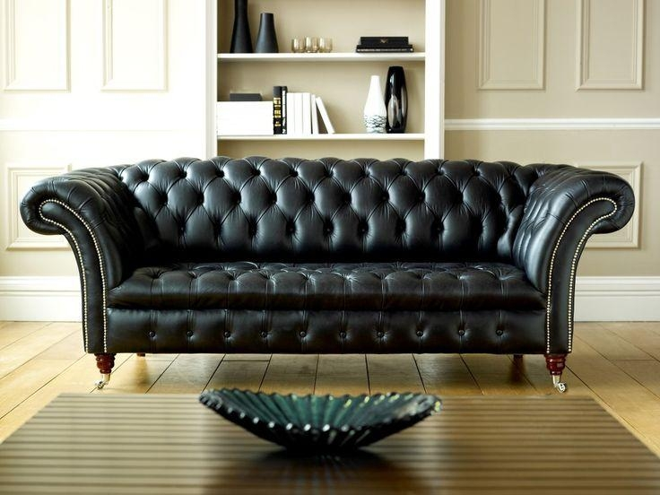 Best 25+ Black Leather Sofas Ideas On Pinterest | Black Leather With Regard To Black Leather Sofas And Loveseats (Image 3 of 20)