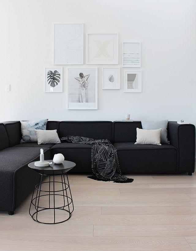 Best 25+ Black Sofa Ideas On Pinterest | Black Couch Decor, Black Inside Sofas Black And White Colors (Image 11 of 20)