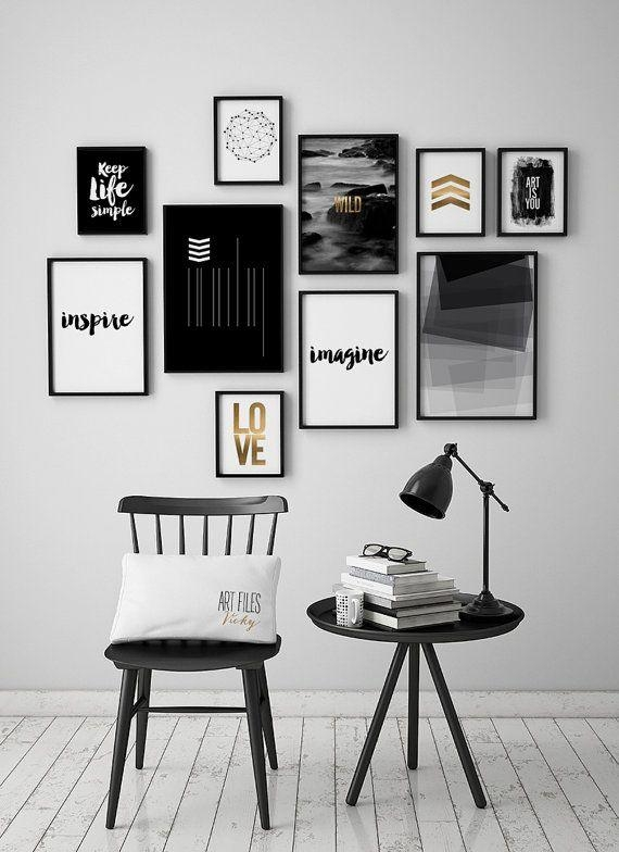 Best 25+ Black White Art Ideas On Pinterest | Black White Intended For Black And White Wall Art (Image 4 of 20)