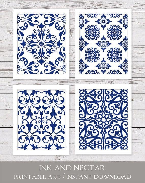 Best 25+ Blue Art Ideas On Pinterest | Marble, Marble Texture And Throughout Blue And White Wall Art (Image 4 of 20)